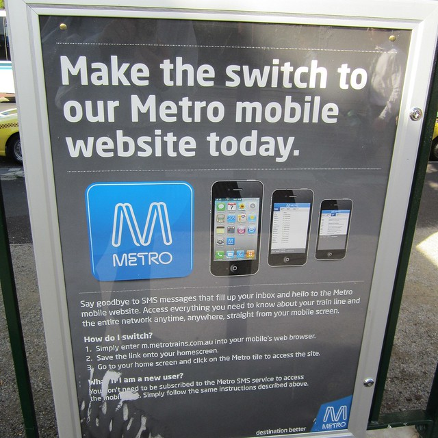Metro encouraging the switch from SMS to the mobile web site