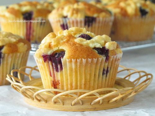 Blueberry crumble cupcakes