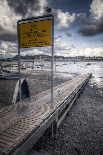 819/1000 - Jetty in Conwy by Mark Carline