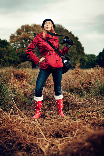 Olga and her awesome wellies