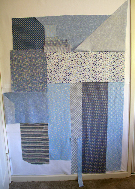 Stash Quilt - Laying it out