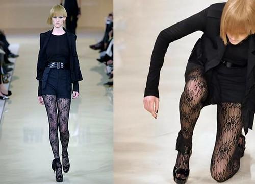 Lara Stone-caida-Karl-Lagerfeld-2007
