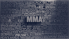 MMA (StuartWade) Tags: typography cinema4d c4d type ufc rendering fights mma wec mixedmartialarts bellator