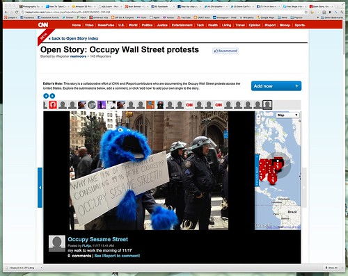 Open Story: Occupy Wall Street protests - CNN iReport by stevegarfield