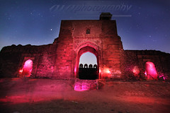 Rohtas Fort Light Painting! (rohtas) Tags: pakistan light red sky night painting long exposure fort flash gel starts jhelum rohtas