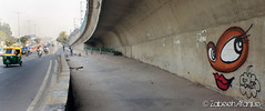 New watch dog... (Zabeeh_India) Tags: streetart graffiti photoblog illegal stencilart y2k newdelhi roadart ringroad defencecolony yantr hauzkhasvillage zabeehafaque graffitidelhi streetartdelhi modimill daku156 graffitiartindia graffitiartistindelhi graffitiinhauzkhasvillage