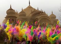 Celebration of Spring Colors (Irwin Scott) Tags: temple utah hindu holi throwing 2012 spanishfork festivalofcolors