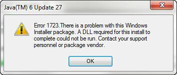 Java 1723 error
