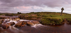 Dusk at Windy Post (markgeorgephotography.co.uk) Tags: uk sunset england sky horse southwest history water clouds river landscape religious photography evening waterfall ancient war rocks stream cross dusk religion spooky devon historical geology legend dartmoor canon1740mmf4lusm waterway leat warhorse formulaphoto markgeorge leefilters canon7d