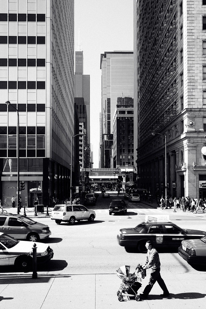 Chicago black and white photo