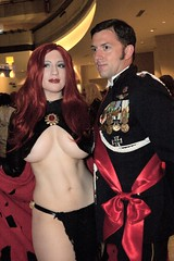 Queen and Prince (BelleChere) Tags: atlanta costume tits geek cosplay harrypotter convention marvel dragoncon siriusblack madelynepryor goblinqueen yuleball bellatrixlestrange