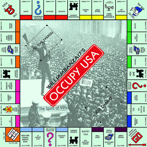 BANZAI7'S OCCUPY USA MONOPOLY BOARD GAME