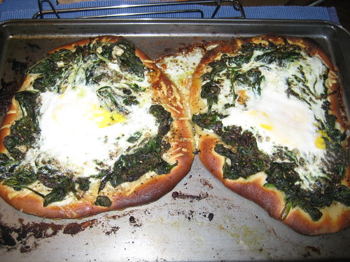 Spinach, Egg and Pecorino Pizza