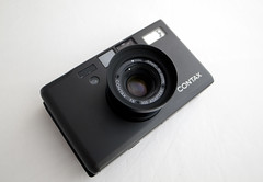 Black Contax T3 with hood (Japancamerahunter) Tags: camera zeiss japanese gear gas equipment contax t3 kyocera compact optics compactcamera gearporn carlzeiss japanesecamera camerporn
