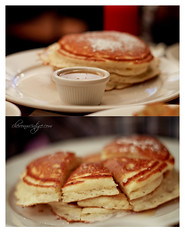 Clinton St. Pancakes (Chevon McIntyre) Tags: newyork pancakes fluffy delicious brunch manhatttan clintonstbakingcompany maplebuttersyrup