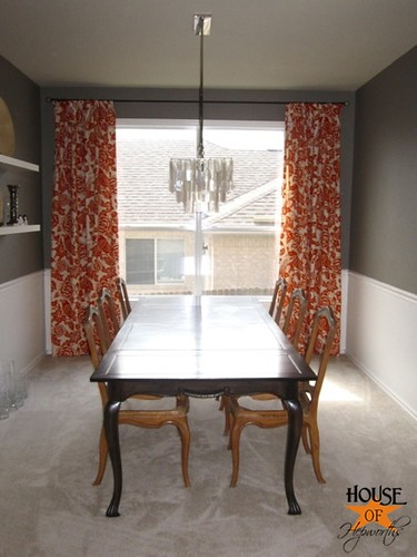 Dining Room Thomas Paul Aviary Curtains Tangerine 02