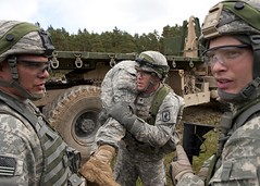 Figuring out what to do with the wounded (U.S. Army Europe Images) Tags: military multinational usarmyeurope bumgardner 173rdairbornebrigadecombatteam fste fullspectrumtrainingevent
