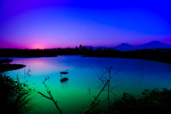 Mystic Java (zoomion) Tags: blue sunset green water indonesia volcano java east refelections bayuwangi