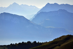 Simply Nature (ceca67) Tags: blue light mist mountain mountains alps art nature landscape photography schweiz switzerland photo nikon mood colours view swiss fineart mount svetlana panorame 2011 d90 ceca