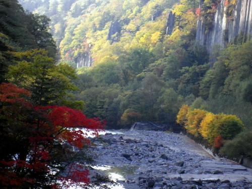 天人峡の紅葉3