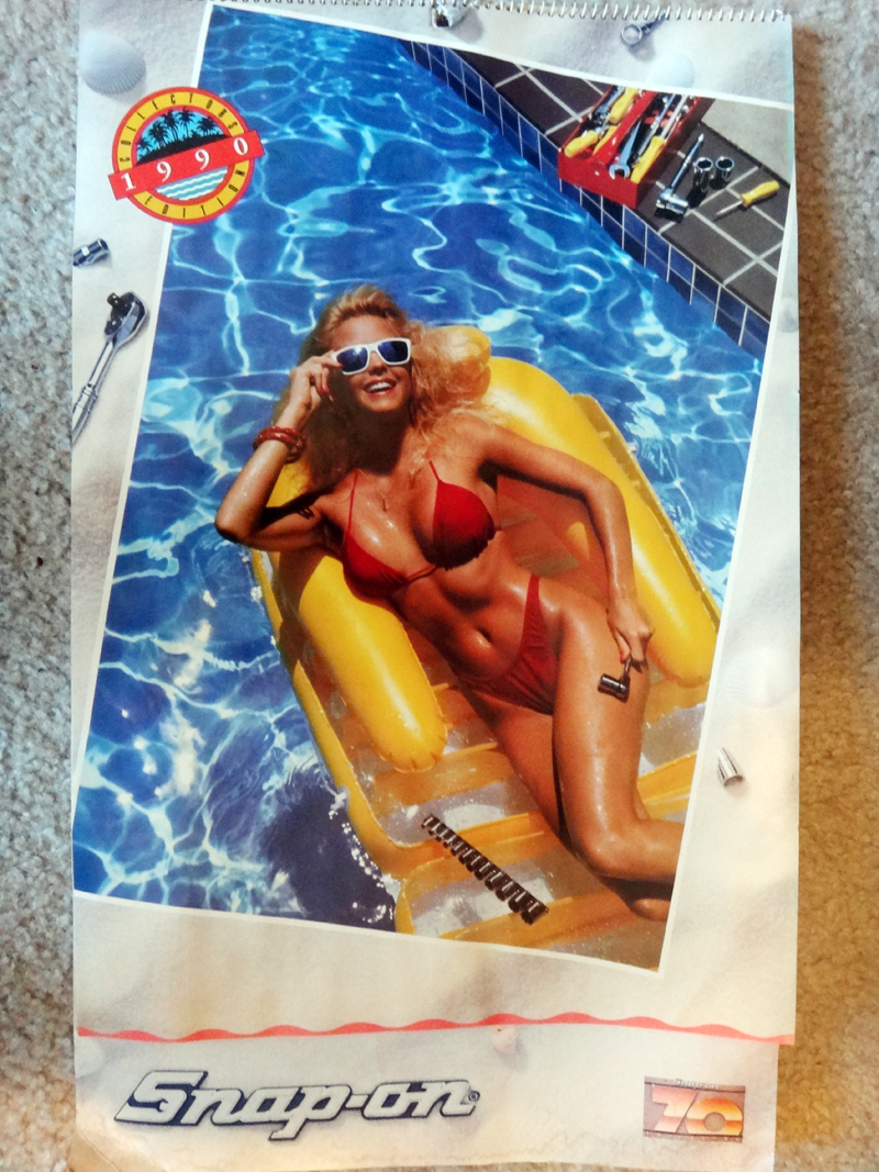 Classic Snap-on Tools Calendar Pinup Girls Calendar // 1990 Collector's Edition