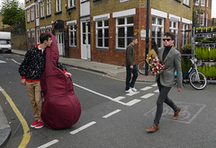 Flower Carrier (davemason) Tags: road street flower colour market strangers columbia hackney carrier