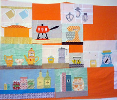 cocorico blocks... (meliketocraft) Tags: patchwork quiltblock paperpiecing quiltingbee kitchencouture cocoricopatchworkbee