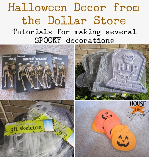 Make cheap Dollar Store Halloween Decor - House of Hepworths