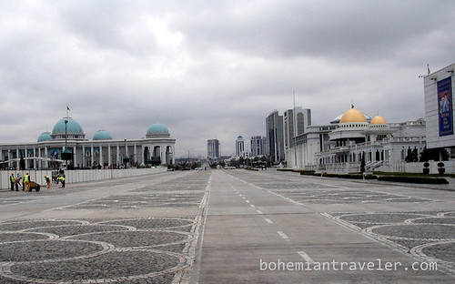 Government building in Ashgabat Turkmenistan