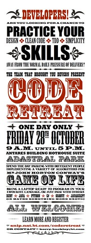Code retreat poster