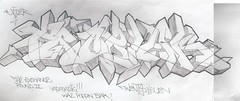 Problak round 2 (Extraskin-_-...dwk ban []ov[ ]) Tags: 3 boston pencil ma graffiti three sketch vice style it ala hood got graff ban exchange drank blak killin dwk vicer problak