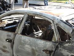 Burned out car - Day after 2011 riots: Ealing (mikestuartwood) Tags: road uk england west london cars car out fire eu civil damage damaged unrest riots destroyed ealing burned westlondon charred looting 2011 londonriots ealingriots