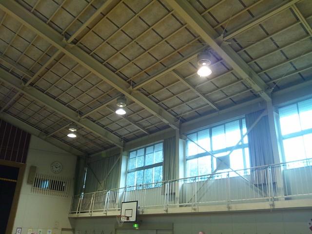 体育館の2階部分はワクワクするの写真