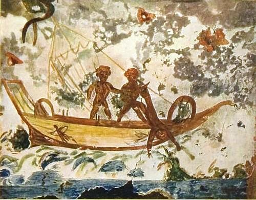 Jonas y la ballena en Catacumbas de Santa Priscila