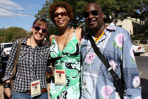 Kat Candler with Carla L. Jackson and Kelvin Z. Phillips of A Swingin' Trio