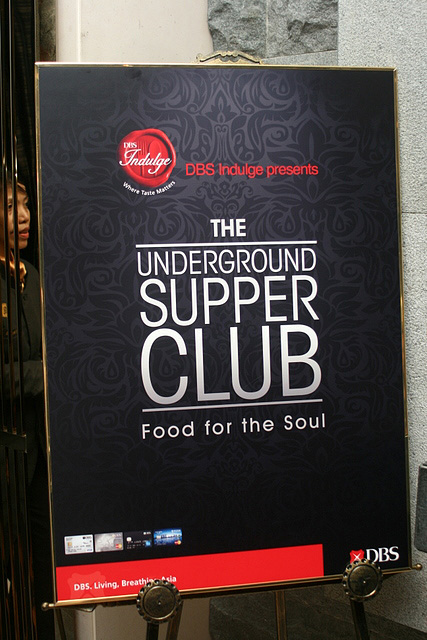 The inaugural DBS Underground SupperClub was held at The Decanter, St Regis Singapore