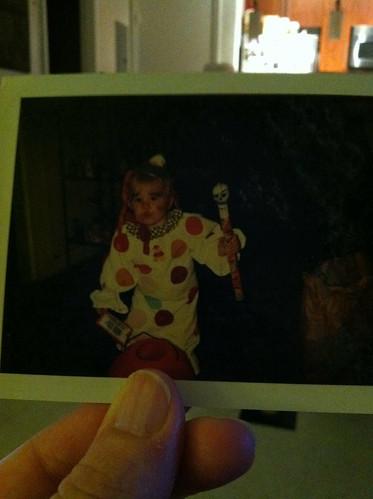 Halloween Past - baby clown