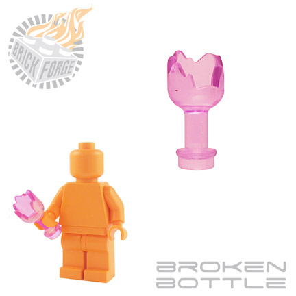 Broken Bottle - Trans Pink