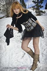 Snow Fashion (Carlos Mata Photography) Tags: portrait woman snow fashion mujer retrato nieve moda creative carlos mata alina 2011 somport carlosmata ibirque alinaact
