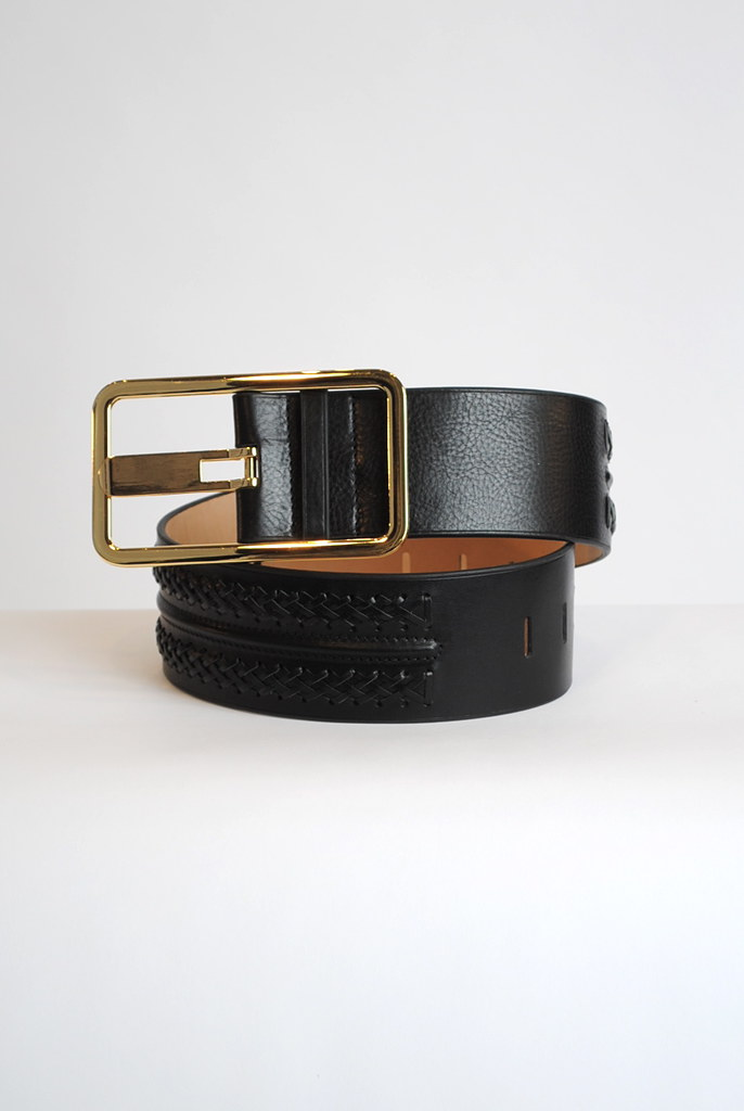 Wide Waist Braided Belt