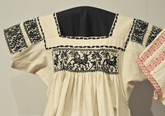 Mexican Blouse Hidalgo (Teyacapan) Tags: museum mexico clothing map deer mexican textiles ropa hidalgo blouses smocking venado blusas