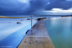 Blue Morning (-yury-) Tags: longexposure morning blue seascape beach nature pool landscape dawn sydney australia nsw bronte thepowerofnow