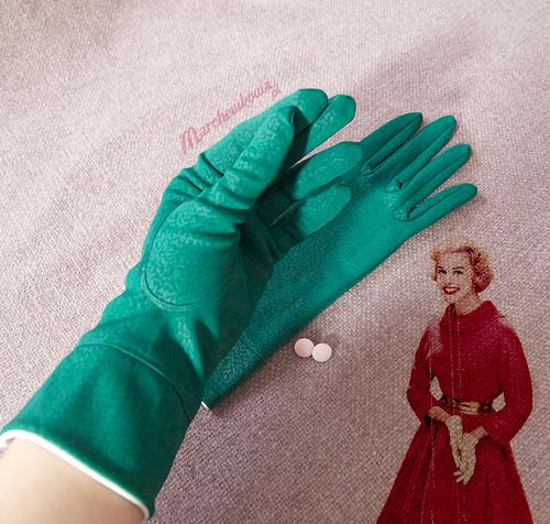 marchewkowa, szafiarka, retro, vintage gloves, rękawiczki, butelkowa zieleń