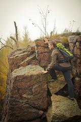 Explorer (Michal Soukup) Tags: trip autumn mist man tree me rock fog trek way jones moody outdoor stones lifestyle indiana boulders canonef2470mmf28lusm cracked hory krun canon5dmarkii