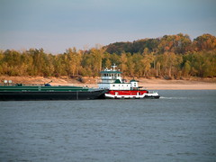 Tower Rock and Wittenberg Missouri October 30, 2011 6:  Fuel Barge (whitebuffalobk) Tags: fishing missouri mississippiriver barge wittenberg gaspipeline towerrock