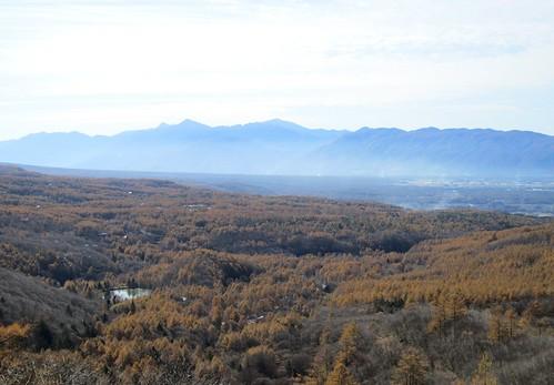 城の平と南アルプス、中央アルプス 2011年11月1日10:33 by Poran111