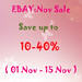 Ebay : November sale