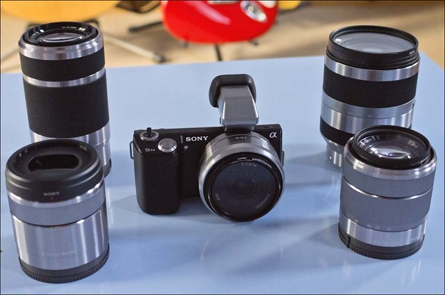 Sony NEX-5n 16mm, 30mm, 18-55mm, 55-210mm and 18-200mm lenses