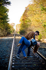 Day 365 of 365 Days of Love! (NEW|photography (Formerly: Nikki Loux Photography)) Tags: railroad love ma fun couple massachusetts traintracks newengland 365 mass dip raynham 365project