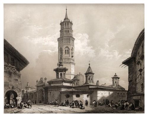030-Iglesia de San Pablo en Zaragoza-España artística y monumental..Tomo III- 1842-1850-Genaro Perez de Villa-Amil